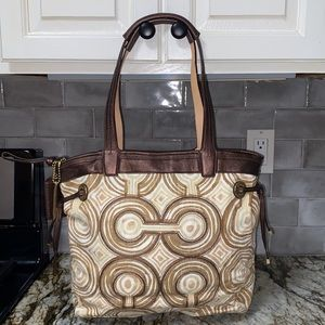 Coach All Weather Material Canvas Tote bag